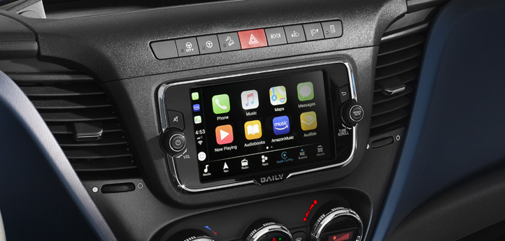 HI-Connect Infotainment-System beim IVECO Daily Kastenwagen